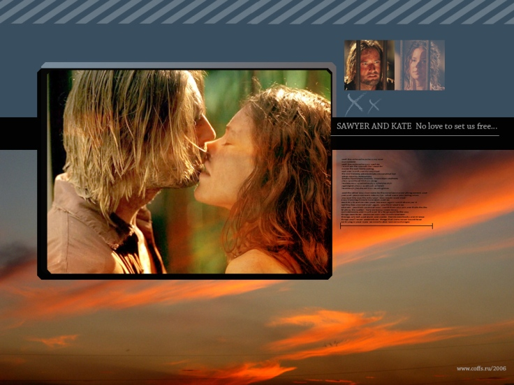 James Ford (Sawyer) And Evangeline Lilly (Kate)