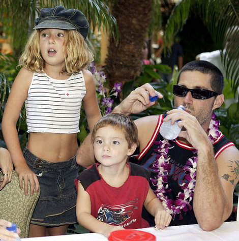 Matthew Fox with his kids