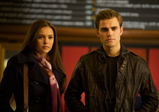 Nina Dobrev ( Elena Gilbert ),  Paul Wesley ( Stefan Salvatore )