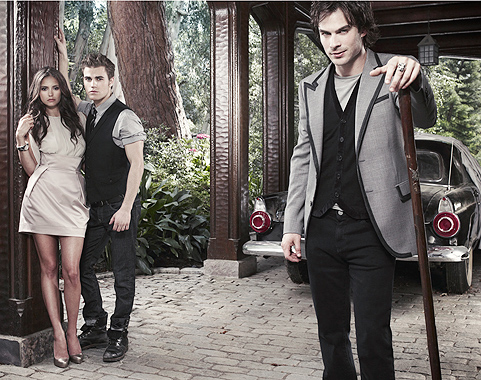 Nina Dobrev , Paul Wesley and Ian Somerhalder – The Vampire Diaries (3)